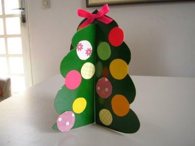 como fazer Árvore de Natal de papel