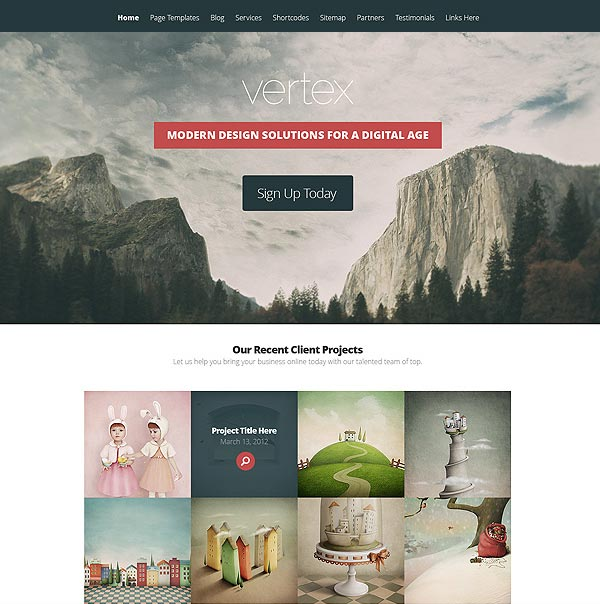 Vertex-WordPress-Theme-Preview